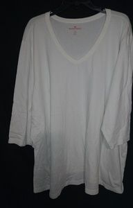 Woman Within Plain White T-shirt 4X Plus